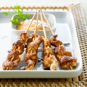 Chicken Satay with a Peanut Dipping Sauce | TwentyOne No Gluten